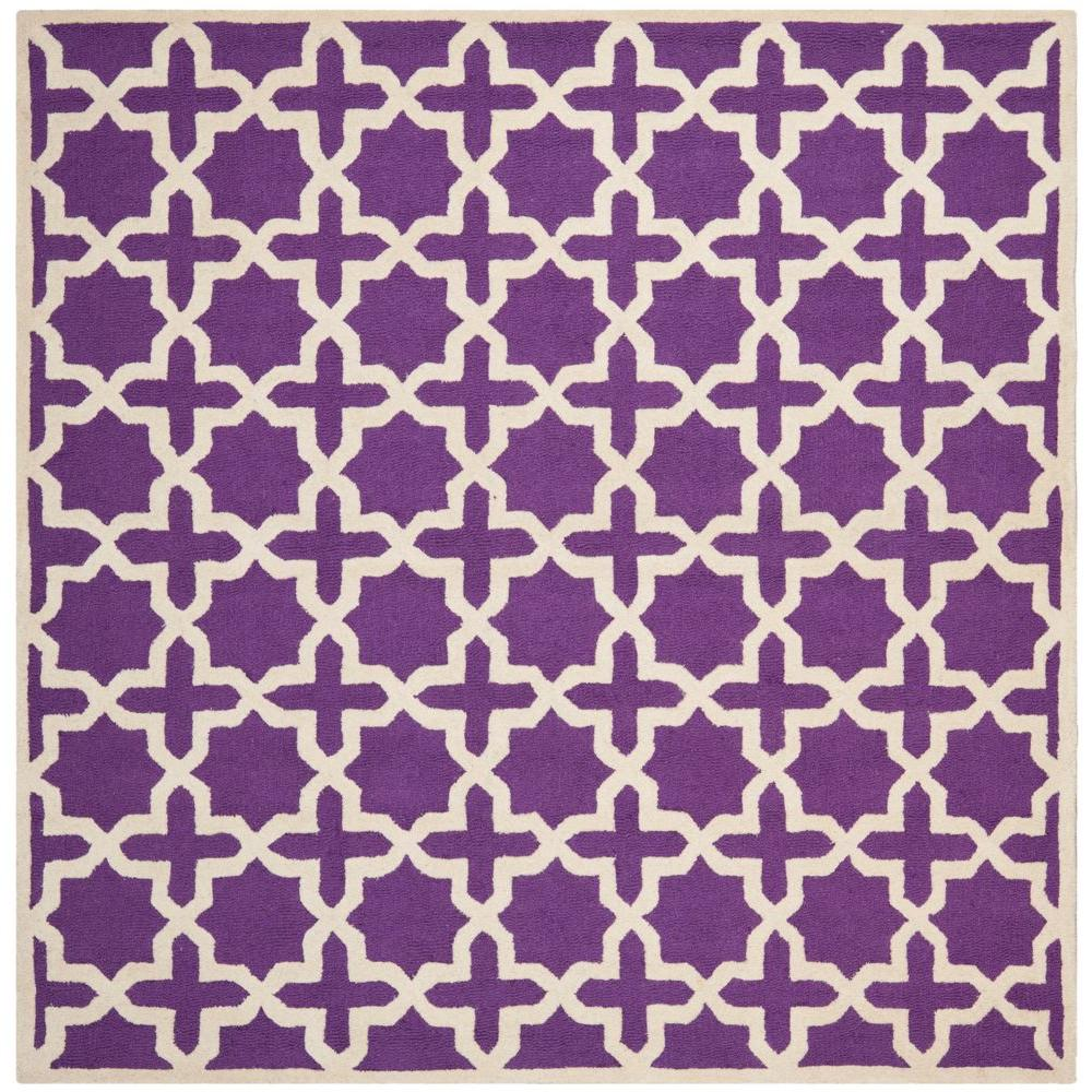 Cambridge Purple/Ivory 6 ft. x 6 ft. Square Area Rug