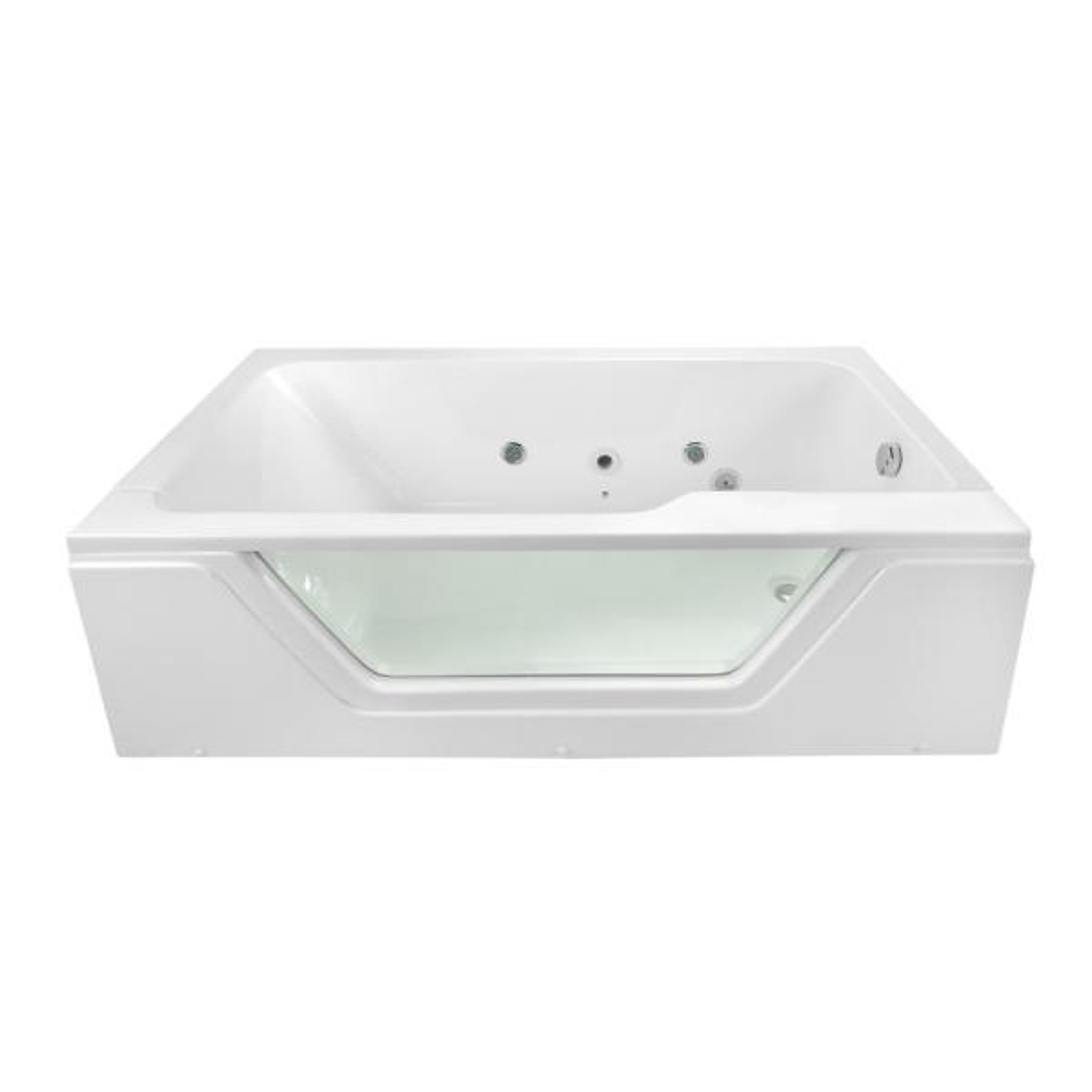 Pure 66 in. x 36 in. Acrylic Right Drain Rectangular Alcove Infusion Microbubble Air Bath Bathtub in White