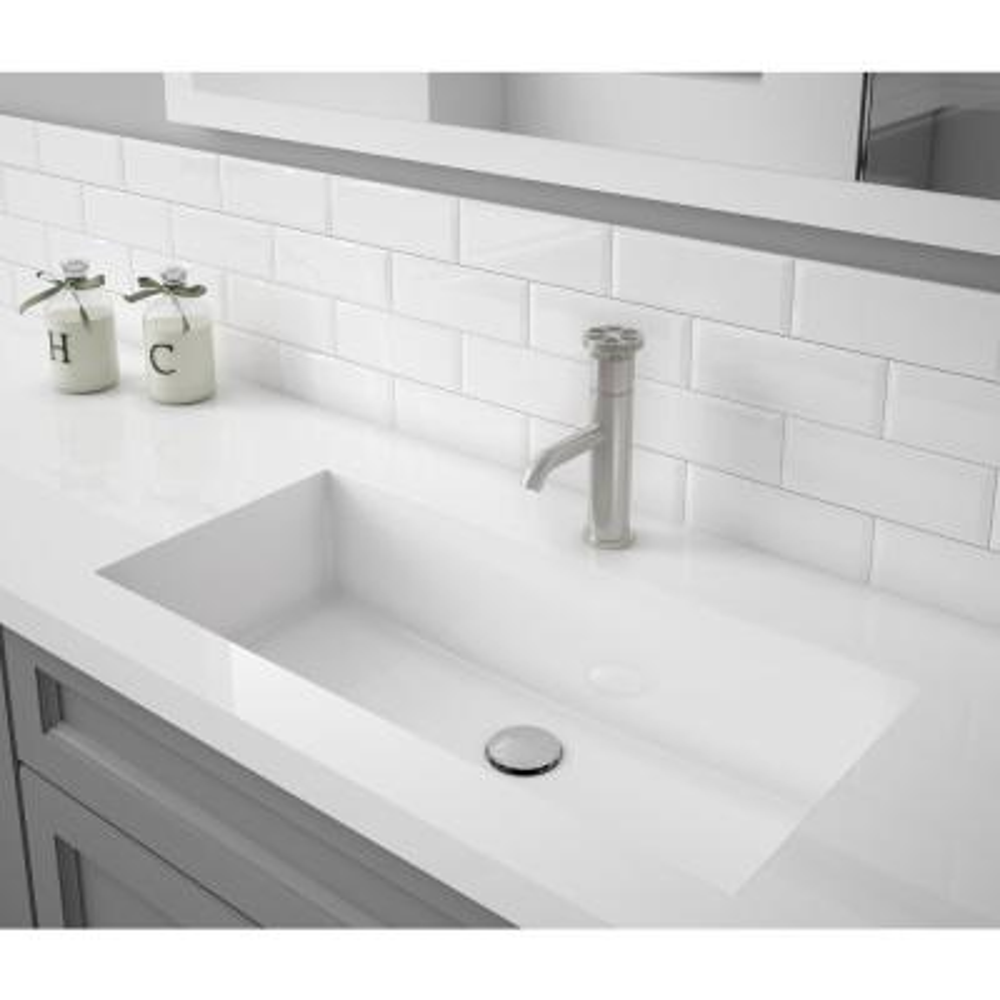 Nova Single Hole Single-Handle Bathroom Faucet in Brushed Nickel Finish