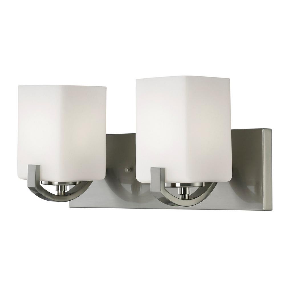 Palmer 2-Light Brushed Nickel Bath Light