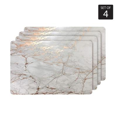 "Marble Cork 12 in. x 18"" In. Yellows and Golds Cork Rectangle Placemats Set of 4"