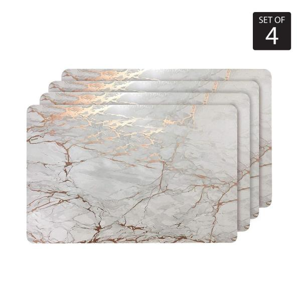 Marble Cork 12 in. x 18'' In. Yellows and Golds Cork Rectangle Placemats Set of 4