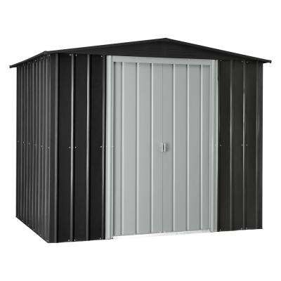 Gable 8 ft. x 6 ft. Slate Gray Metal Shed