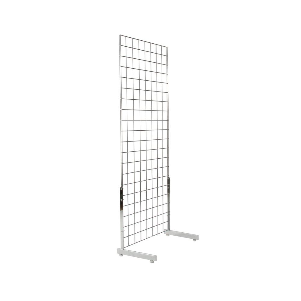 Econoco 19 1 4 In H X 12 3 L Chrome Shaped Leg For Gridwall Gl512 C The Home Depot