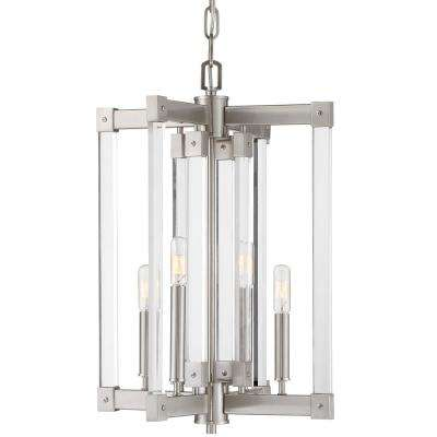 Halcyon 4-Light Satin Nickel Chandelier