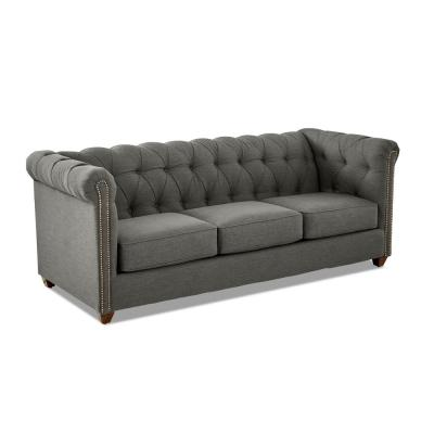 Keaton Tufted Sofa in Graphite