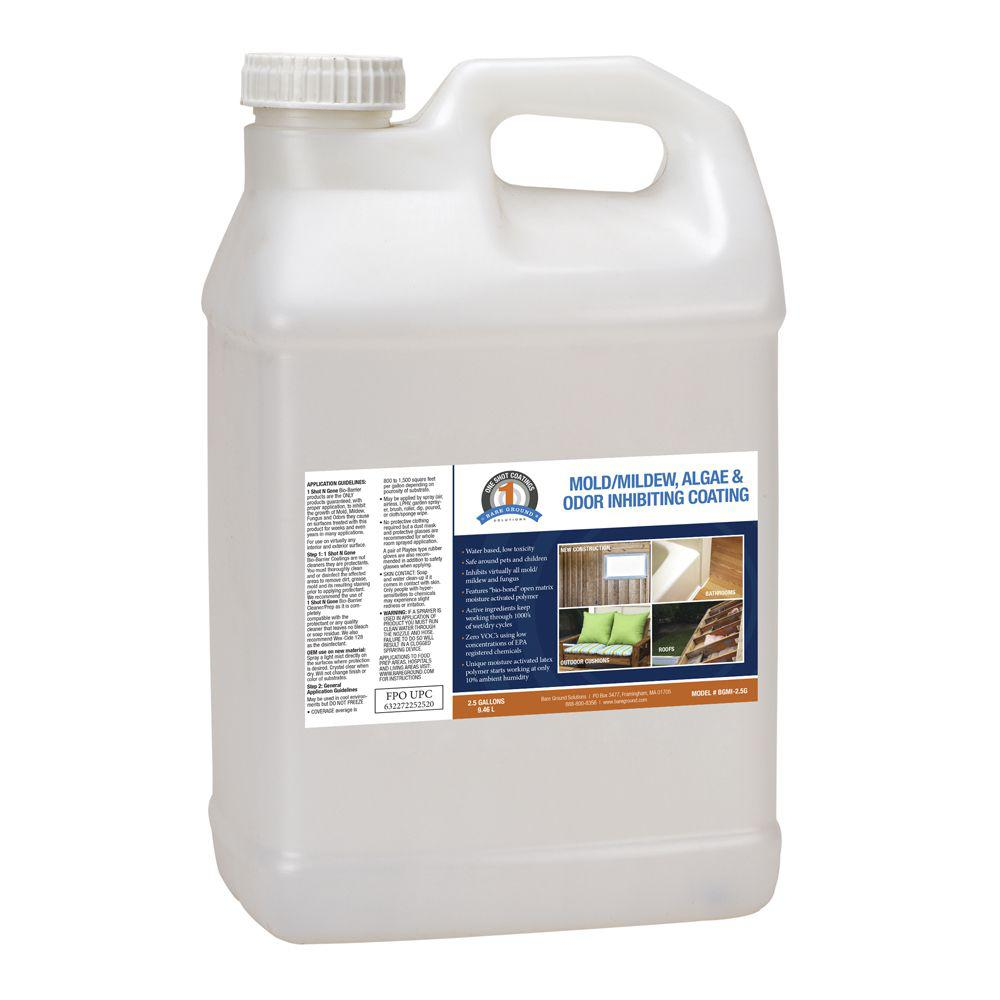 2.5 Gal. 1 Shot N Gone Mold/Mildew/Algae Inhibiting Coating Container