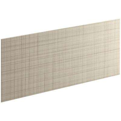Choreograph 0.3125 in. x 60 in. x 28 in. 1-Piece Shower Wall Panel in Almond with Linen Texture