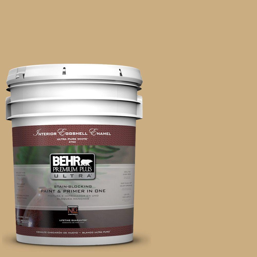 BEHR Premium Plus Ultra 5-gal. #S310-4 Perennial Gold Eggshell Enamel Interior Paint