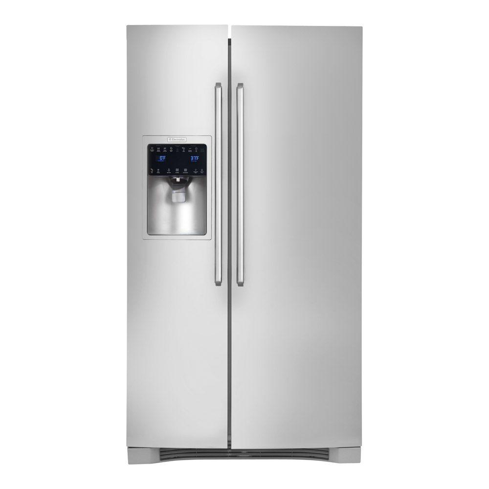 Electrolux IQ-Touch 22.16 cu. ft. Side by Side Refrigerator in Stainless Steel, Counter Depth