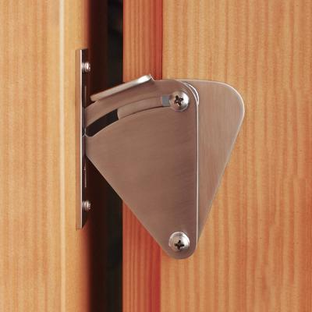 3 in. Stainless Steel Fan-Shape Sliding Barn Door Lock Latch