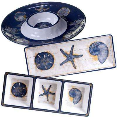 Calm Seas 3-Piece Hostess Set