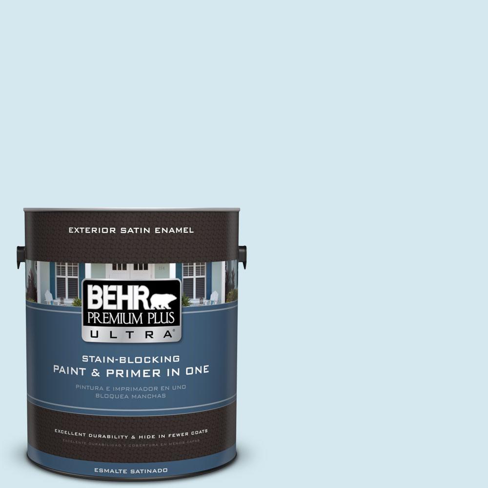 BEHR Premium Plus Ultra 1-gal. #520E-1 Coastal Mist Satin Enamel Exterior Paint