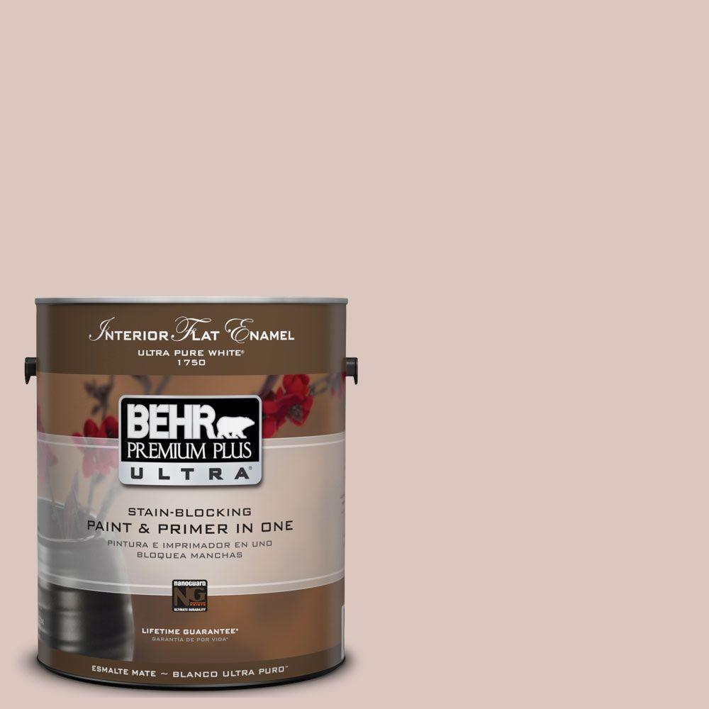 BEHR Premium Plus Ultra 1-gal. #UL110-14 Wisp of Mauve Interior Flat Enamel Paint-DISCONTINUED