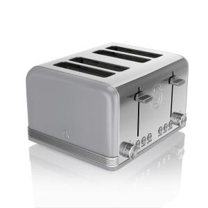 Retro 4-Slice Grey Toaster