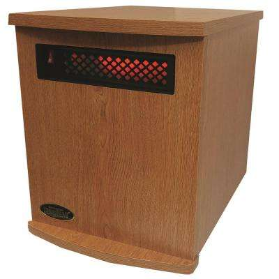 Original SUNHEAT USA1500 5-Year Warranty Infrared Heater, Oak