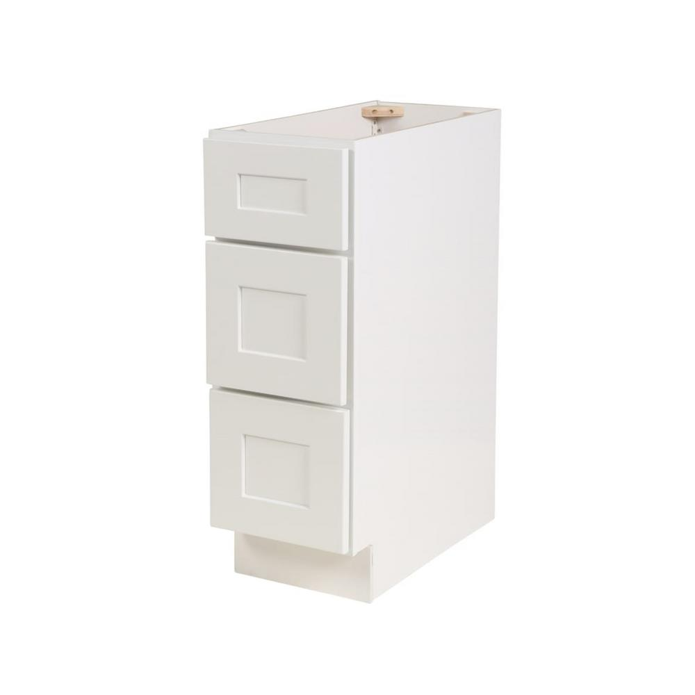 Brookings Ready To Emble 12 X 34 5 24 In Base Cabinet Style 3 Drawer White