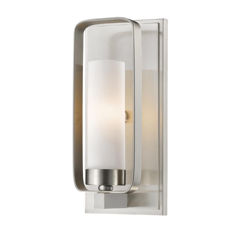 Filament Design Austin 1-Light Brushed Nickel Wall Sconce