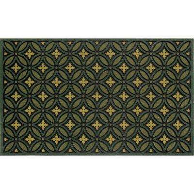 Bay Leaf 22 in. x 36 in. Recycled Rubber Mat