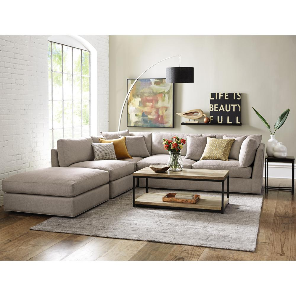 Home Decorators Collection Griffith Sugar Shack Putty Sectional 9615600210 The Home Depot