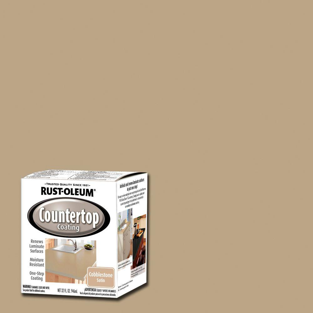 Rust Oleum Specialty 1 Qt. Cobblestone Premix Countertop Coating Interior  Paint (Case Of