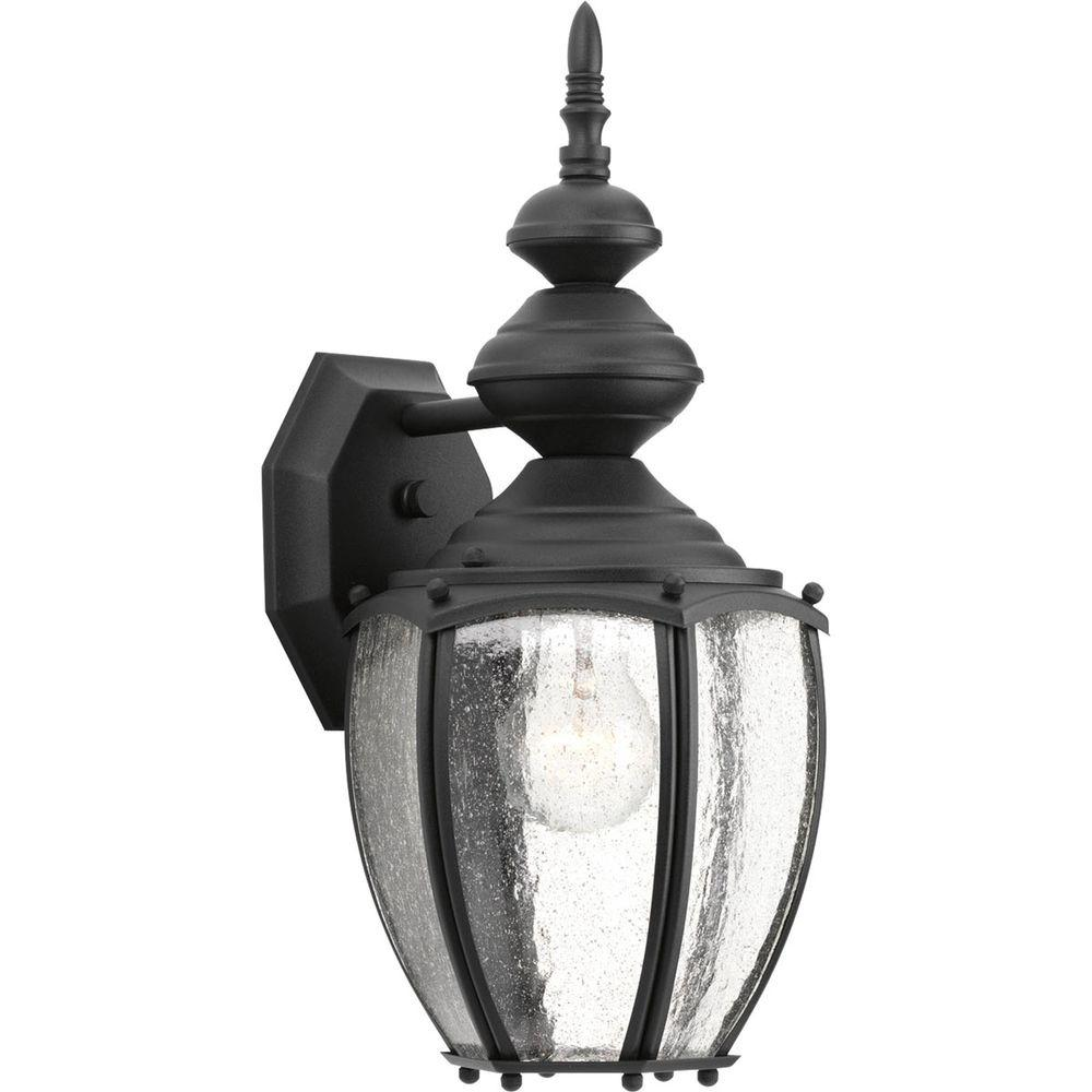 Progress Lighting Roman Coach Collection 1 Light 15 25 In Outdoor Black Wall Lantern Sconce