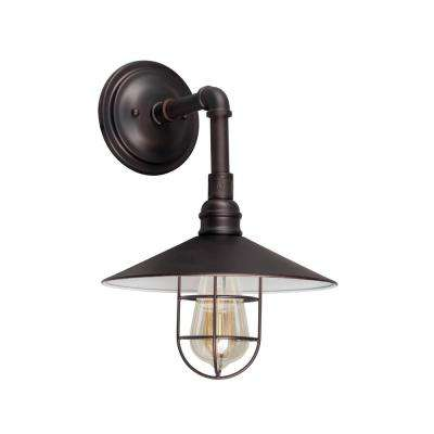 1-Light Antique Bronze Outdoor Wall Sconce