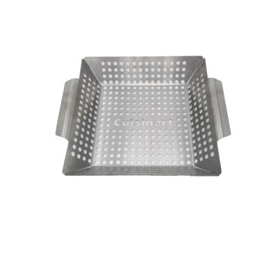 11 in. x 11 in. Stainless Steel Grill Wok