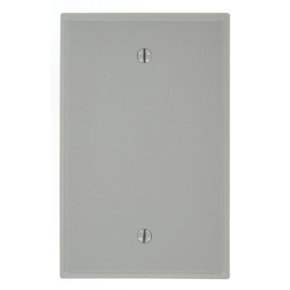 1-Gang Midway Blank Nylon Wall Plate, Gray