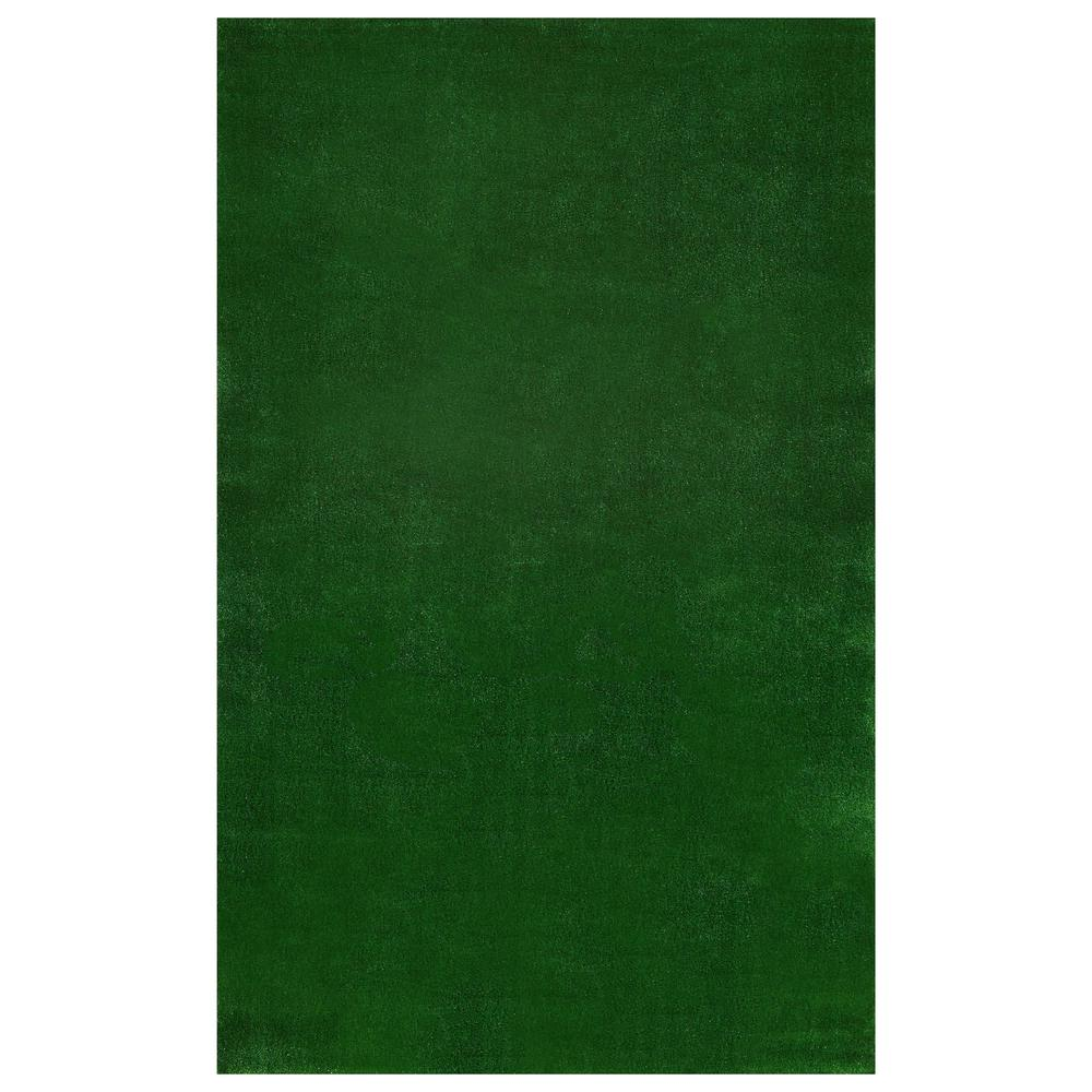 Ottomanson Evergreen Collection Green 6 ft. x 7 ft. 3 in. Solid Area Rug