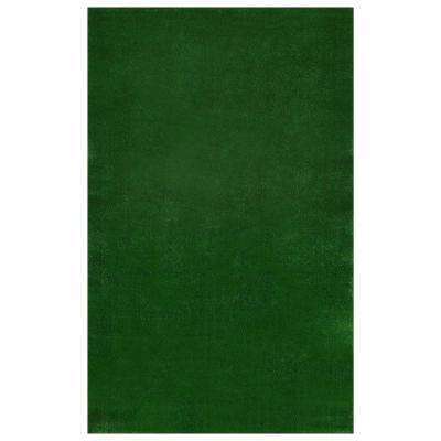 Evergreen Collection Green 6 ft. x 7 ft. 3 in. Solid Area Rug
