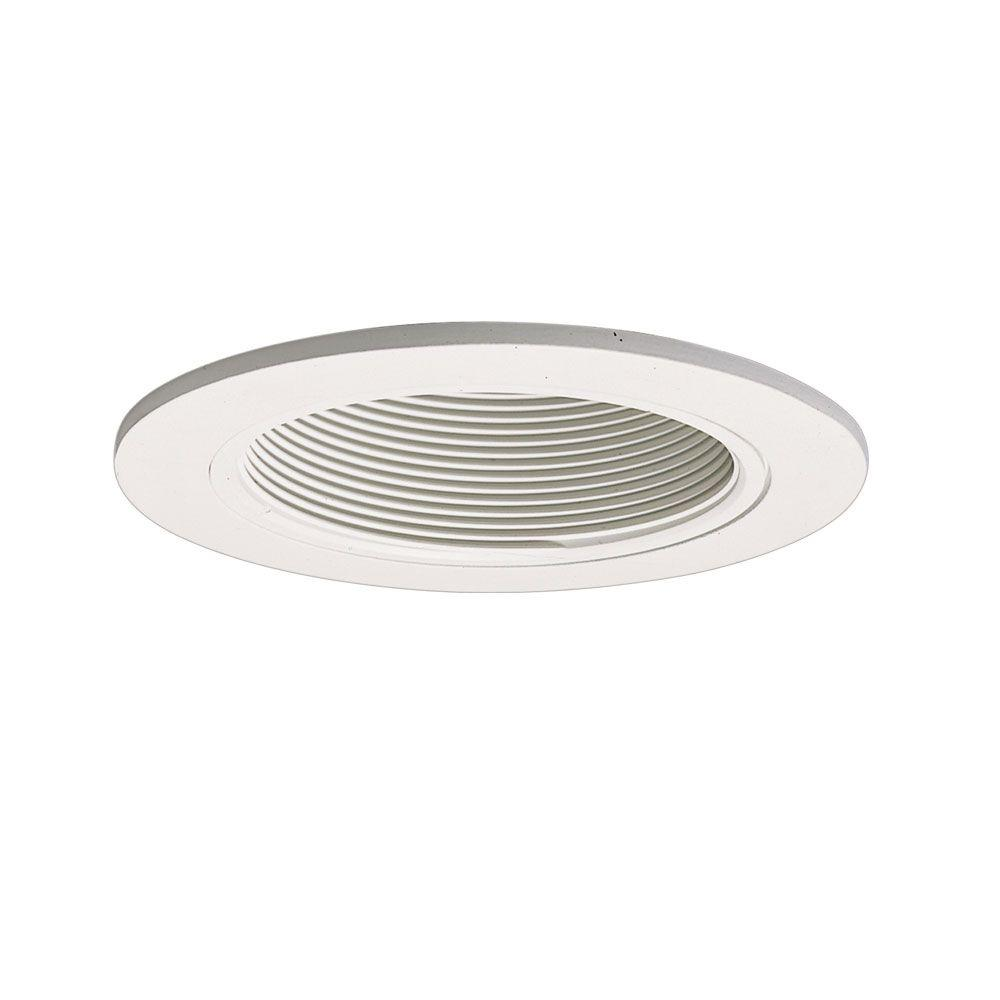 official photos 5902b 65ff5 Halo 993 Series 4 in. White Recessed Ceiling Light Fixture Trim with Baffle