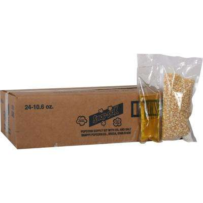 10.6 oz. White Popcorn, Oil and Seasoning Kit for 8 oz. Poppers (24-Pack)