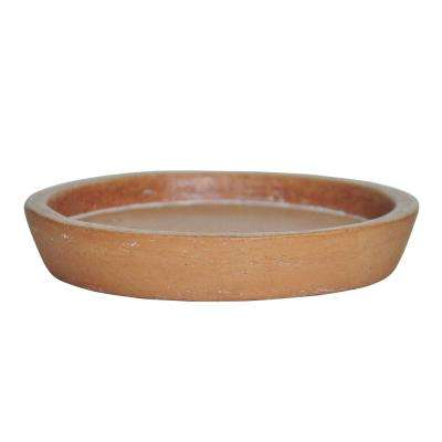 5 in. D White Washed Terra Cotta  Composite Saucer