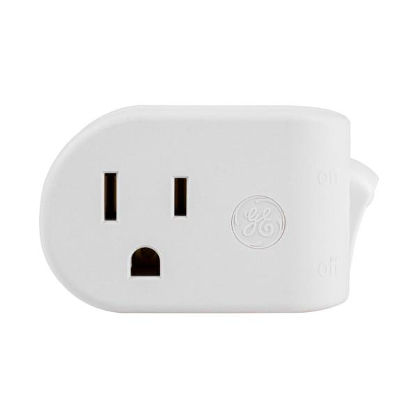 Grounded Power Switch, White