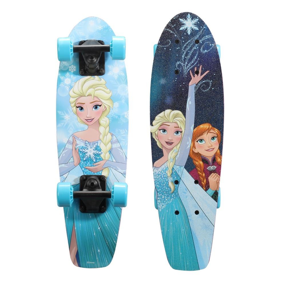 Disney Frozen 21 in. Wood Cruiser Skateboard in Snowflake Graphic
