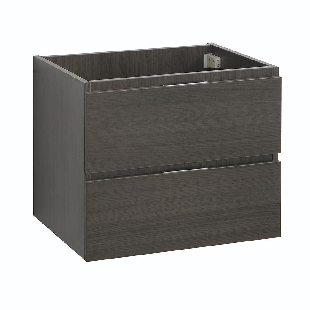 Valencia 24 in. W Wall Hung Bathroom Vanity Cabinet in Gray