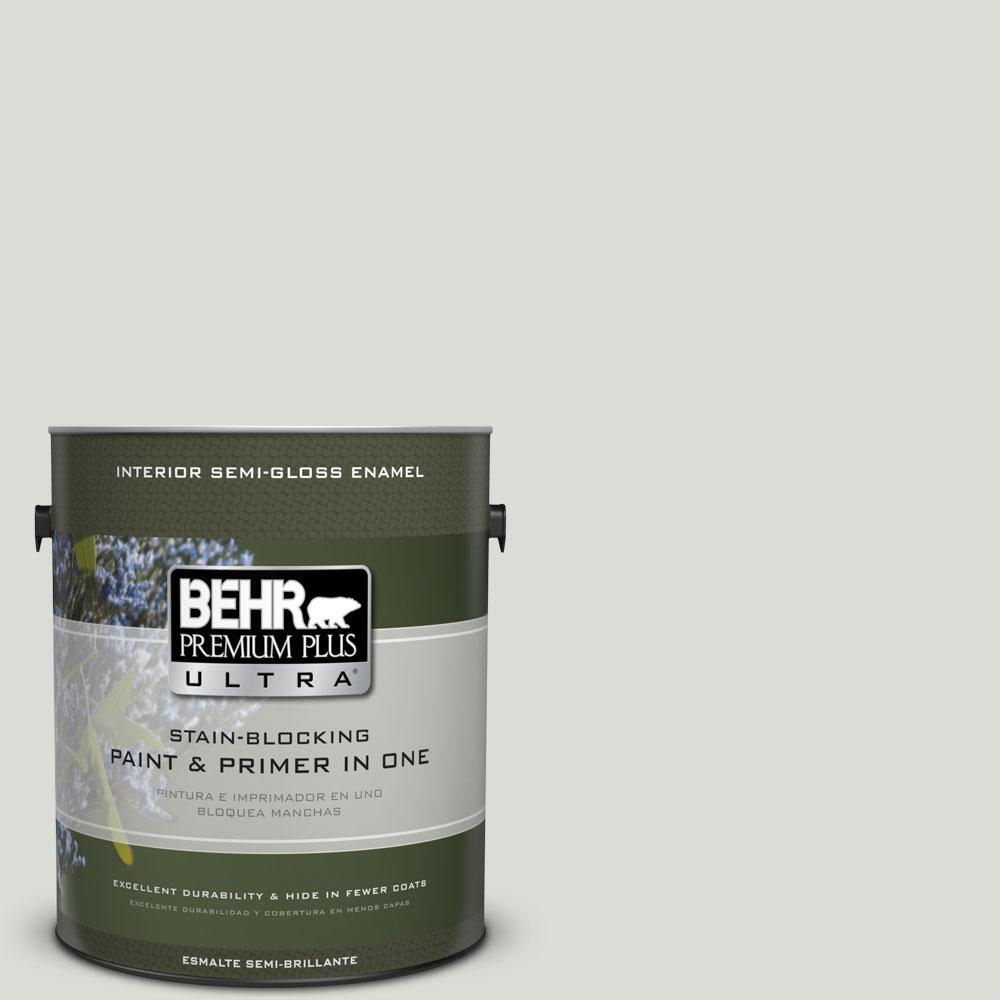 1-gal. #BWC-29 Silver Feather Semi-Gloss Enamel Interior Paint