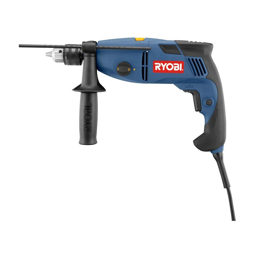 ryobi reconditioned 1 2 in 2 speed hammer drill zrd552hk the home depot. Black Bedroom Furniture Sets. Home Design Ideas