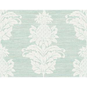 peachy garden grove home depot. Pineapple Grove Turquoise Damask Wallpaper Kenneth James Pink PS40701  The