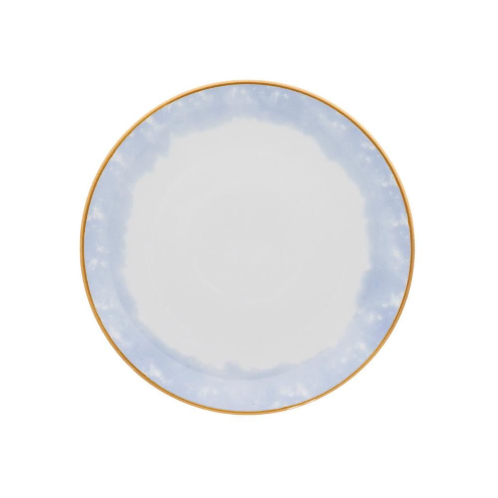 Manhattan Comfort 8.46 in. Coup Blue and Yellow Salad Plates (Set of 6) was $69.99 now $40.42 (42.0% off)