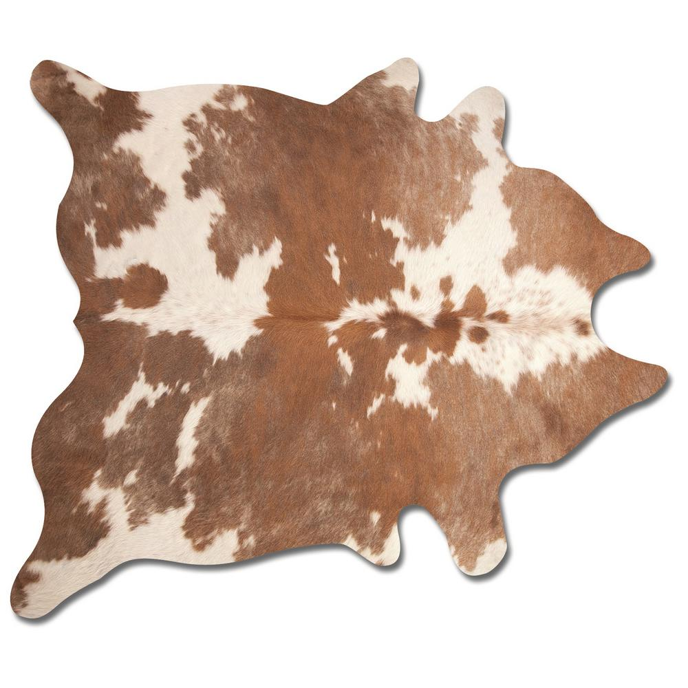 Natural Kobe Brown And White 6 Ft X 7 Cowhide Rug