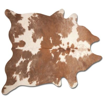 Kobe Brown and White 6 ft. x 7 ft. Cowhide Rug