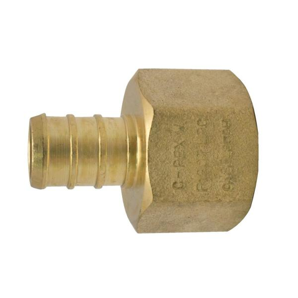 1/2 in. Brass PEX Barb x 1/2 in. Female Pipe Thread Adapter Pro Pack (25-Pack)