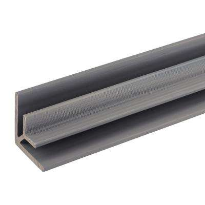 All Weather System 2.8 in. x 2.8 in. x 8 ft. Composite Siding Inside Corner Trim in Westminster Gray Board