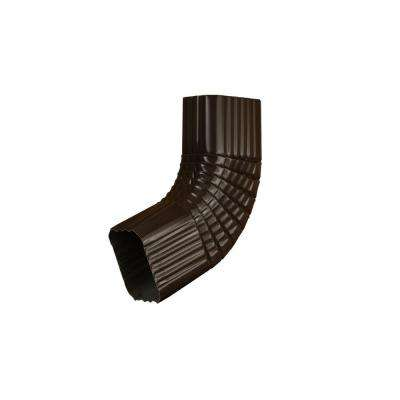 3 in. x 4 in. Musket Brown Aluminum Downspout B Elbow