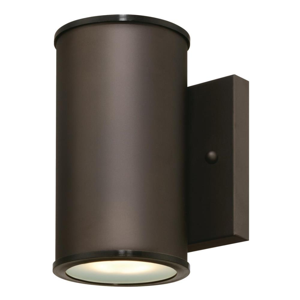 Westinghouse Mayslick 1-Light Oil Rubbed Bronze Outdoor Integrated Wall Lantern Sconce Cylinder
