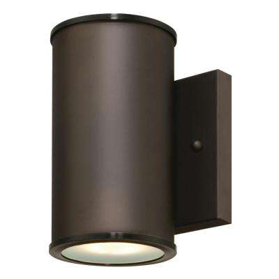 Mayslick 1-Light Oil Rubbed Bronze Outdoor Integrated LED Wall Mount Cylinder