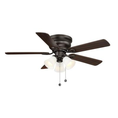 Clarkston II 44 in. LED Indoor Oiled Rubbed Bronze Ceiling Fan with Light Kit
