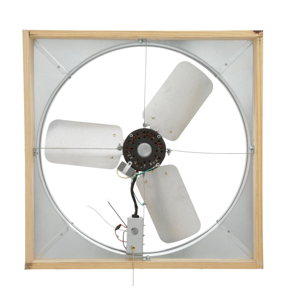 Master Flow 4500 Cfm 24 In Direct Drive Whole House Fan With Shutter
